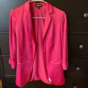Express pink boyfriend satin blazer